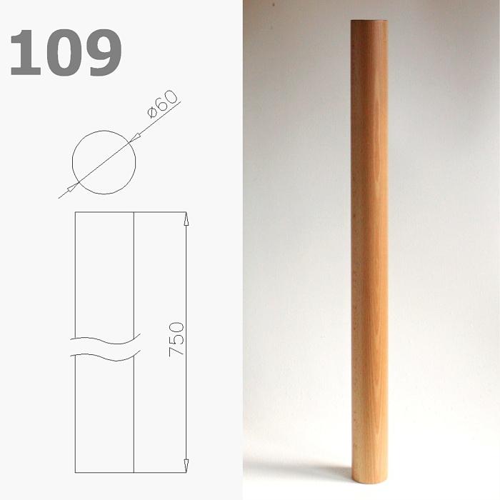 Stolová noha č 109 surová